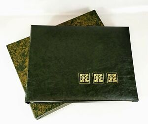 Vtg 70s Ben Parker Embossed HeatSeal Green & Gold Photo Album In Box 5 Pages New