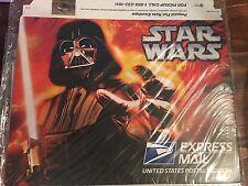 STAR WARS Set of 3 UNOPENED Pre-paid Postal USPS Express Mail Envelopes 2007