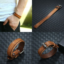 Vintage Handmade Wristband Wrap Cuff Bangle Unisex Men's Punk Leather Bracelets
