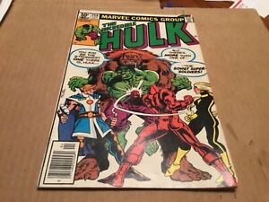 The Incredible Hulk #258, Marvel Comics, Aprx 3.0 Good.
