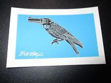 """EMEK Handbill Silkscreen Print Blue HEART TREE Signed 3.25 X 4.5/"""" poster art"""