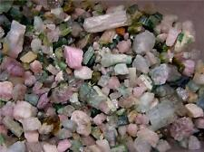 Tourmaline crystal natural mix grade pink green blue Afghanistan 1/8 pound lots