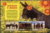 Grenada 2018 MNH Donkeys & Horses 3v M/S Fauna Wild Farm Animals Stamps