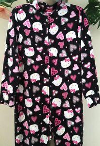 SANRIO HELLO KITTY Hearts Footed Pajamas Footie NEW M LAST ONES *** See Desc.