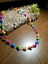Neu XXL Regenbogen Polariskette bunt Halskette Collier Polarisperlen kette