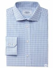 Charles Tyrwhitt Check Button Cuff Formal Shirts for Men