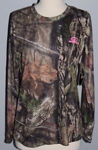 New Ladies MOSSY OAK Performance Shirt Hunting Camo Womens Size S M L XL T-Shirt