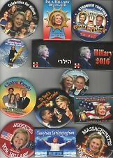 13 pin 2016 pin HILLARY Clinton button Democratic Party Primary Election pinback