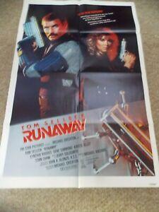 "RUNAWAY(1984)TOM SELLECK ORIGINAL ONE SHEET POSTER 27""BY41"""