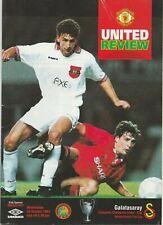 Manchester United v Galatasaray Wednesday 20 October 1993 Program ECCC