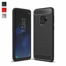 ShockProof Luxury TPU Rugged Carbon Case Cover For Samsung Galaxy S9 & S9 Plus