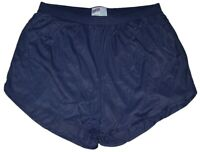 Soffe Navy Blue Nylon Ranger Panties / Silkies Running Track Shorts Men's Large