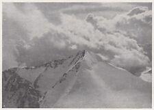 D7459 Nubi sulla vetta del Piz d'Argient - Stampa d'epoca - 1930 vintage print