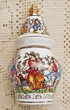BEAUTIFUL VINTAGE PORCELAIN VANITY / DRESSER PERFUME BOTTLE - MADE IN GREECE -