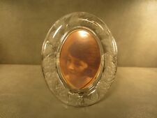 """Lead Crystal Oval Picture Frame 12"""" x 9 1/2"""" for 5"""" by 7"""" picture"""