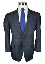 OGER by Atelier Munro Greyish Blue Windowpane 100% Wool 2-Btn Sport Coat 43S US
