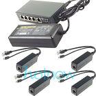 250M EXTEND PoE Kit for 4x Raspberry Pi B/B /2/3 Micro USB 5V 2.4A /Switch 4 PoE