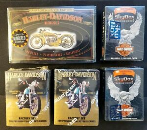 Harley Davidson Numbered Limited Playing Cards + Skybox Sealed Factory Sets!