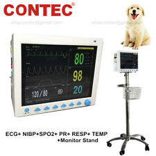 Vital Signs Veterinary Patient Monitor Cms8000 Vet Icu Machine Rolling Stand Usa