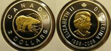 2006 Canada Gold Plated Silver $2.00 Twoonie Polar Bear Proof