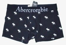 MENS ABERCROMBIE & FITCH MOOSE NAVY BLUE BOXER BRIEF SIZE M (31/32)