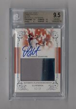 DJ PETERSON 2013 LEAF TRINITY JUMBO 3 COLOR PATCH AUTO RC #12/25 BGS 9.5 10