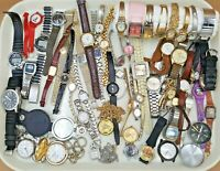 Lot of 55 Vintage and Modern Watches Pocket Watches Parts For Repair or Crafts