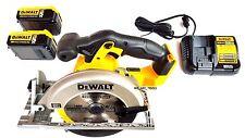 Dewalt DCS391 20V Cordless Circular Saw, 2 DCB205 5.0 Batteries, Charger 20 volt