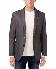 $395 Michael Kors Men's Flannel Wool Charcoal Melange 42R Slim Fit Jacket Blazer