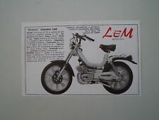 advertising Pubblicità 1978 LEM STRATOS CHEMBOL RAID 50