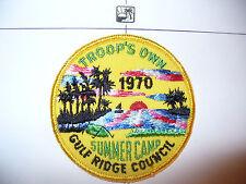 1970 Camp Flaming Arrow, Troops Own,pp,YEL, Gulf Ridge Council,OA 85 Seminole,FL