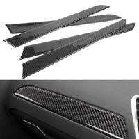 Inner Door Panels Moulding Trim Cover Carbon Fiber for Audi A4 B8 2009-2015 2PCS