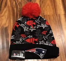 New England Patriots New Era NFL Tropicus Knit Pom Beanie-NWT-men's/women's-OS-