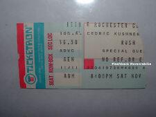RUSH / BACKSTREET CRAWLER 1977 Concert Ticket Stub ROCHESTER NY Mega Rare PEART