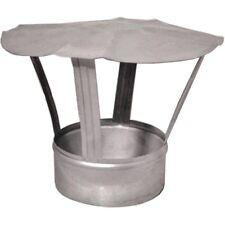 Galvanised Steel Chimney Cowl Flue Liner Cap Ducting Stove Pipe Rain Cover DPO32