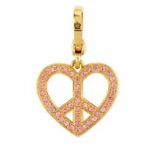 Juicy Couture Charm Heart Pave Peace Sign NEW Boxed $52