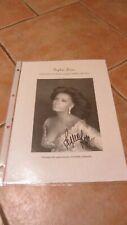 Sophia Loren originalsignierte Autogrammkarte