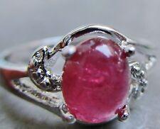 Natürliche Echtschmuck-Ringe mit Turmalin-Hauptstein für Damen