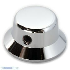 "Solid Brass Metal Bell Strat Knob For Guitar/Bass USA 1/4"" Solid Pots - CHROME"
