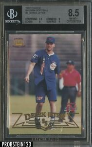 1997 Pacific Baerga Softball #9 Derek Jeter HOF BGS 8.5 w/ 9.5 SUPER RARE POP 1