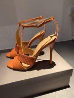 New! Halston Heritage Connie T Strap Sandal Leather Terracota Sz 8.5 NEVER WORN