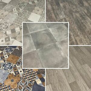 Vinyl Roll Flooring 2m 4m Width Various Lengths Colours Lino Kitchen Bathroom