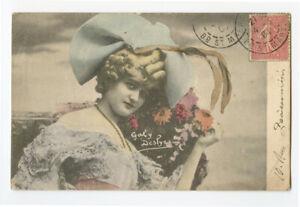 c 1904 Actress Dancer GABY DESLYS Theater Beauty Vintage photo postcard