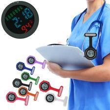 Silicone Digital Alarm Nurse Watch Brooch Health Care Fob Watch Quartz Colorful
