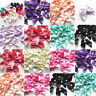 10/50/120PCS Big Ribbon Flowers Bows  Pearl Appliques Craft Decor Wedding Decor