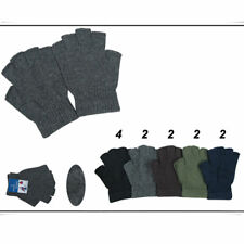 12 Pairs Lot Unisex Black Knitted Fingerless Half Finger Magic Winter Gloves New
