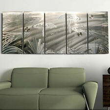 Large Silver Tropical Metal Wall Art Sculpture - Abstract Painting by Jon Allen