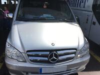 2010-2014 Mercedes VITO W639 Chrome Front Grill 4Pcs S.STEEL