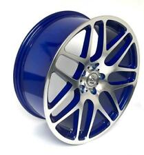 "4 18"" Blue Alloy Wheels 2554518 Tyres VW T5 Transporter T6 5x120  x4 BK170"