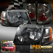 2002-2005 Ford Explorer 4Dr SUV Black Headlight + Signal Light+ Smoke Tail Light